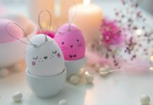 how to decorate easter eggs with watercolor